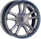 Sparco RALLY Matt Silver Tech Blu Lip
